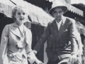 Howard Hughes and Ida Lupino bask in the sun on Palm Canyon Drive during April 1935 visit to Palm Springs