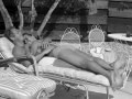 McQueen amusing himself in his modernist house in Rim Road, around the pool with his wife Neile Adams. Palm Springs, it seems, was the place where Steve McQueen came to rest.