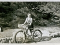 Shirley Temple rides a bike. In curlers. Desert Inn Palm Springs 1936