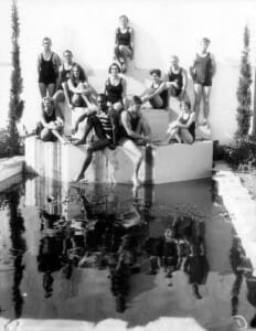 Los Angeles Cellege Swim Team Winter Practice at El Mirado Hotel