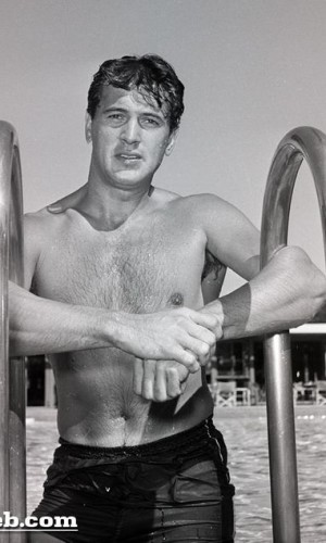 Rock Hudson at The Racquet Club circa 1954-55