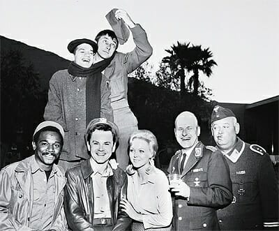 The Hogan's Heroes cast at the Spa Hotel, 1967.