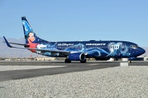 Westjet's Magic Plane holding short of 31L