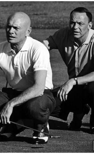 Yul & Frank Sinatra golfing in Palm Springs, 1964.