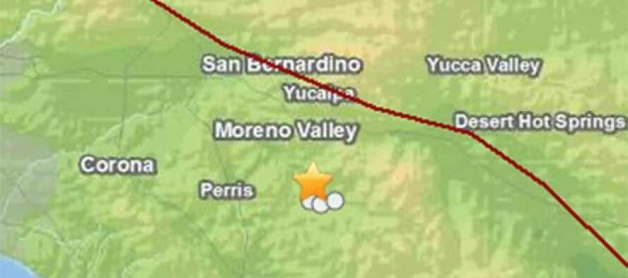 3.1 Earthquake strikes San Jacinto at 3:16pm Sunday