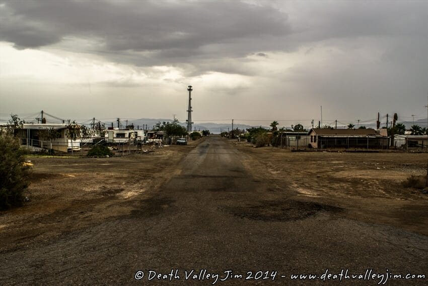 The streets of Bombay Beach.