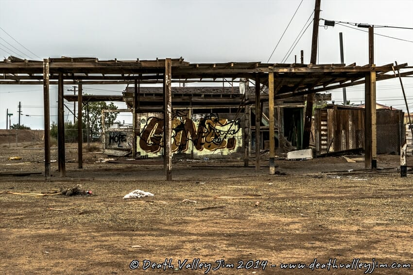 At Bombay Beach, a building that looks like this, is more than likely your neighbor.