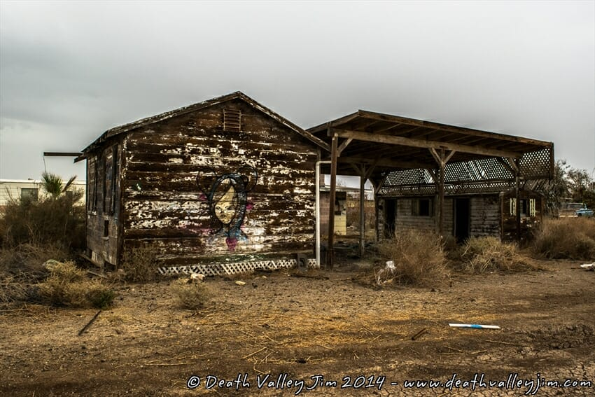 Bombay Beach was once a thriving little beach front community.