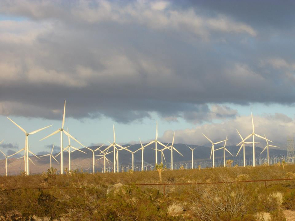 Backyard view in Mojave, CA. Photo courtesy of a reader