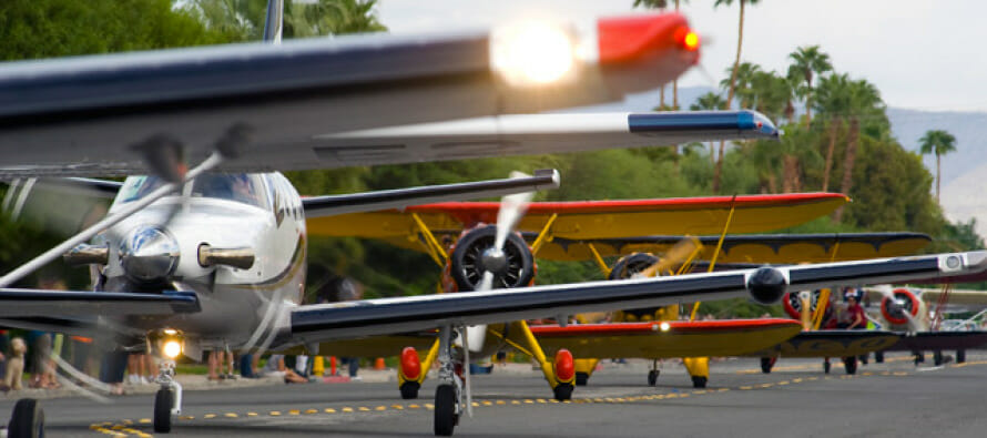 Where can you land your airplane and taxi through city streets  – Only in the Coachella Valley!