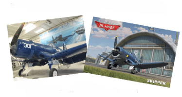 """Did You Know… Skipper from Disney's Movie """"Planes"""" was Inspired by The F4U Corsair at the PS Air Museum??"""