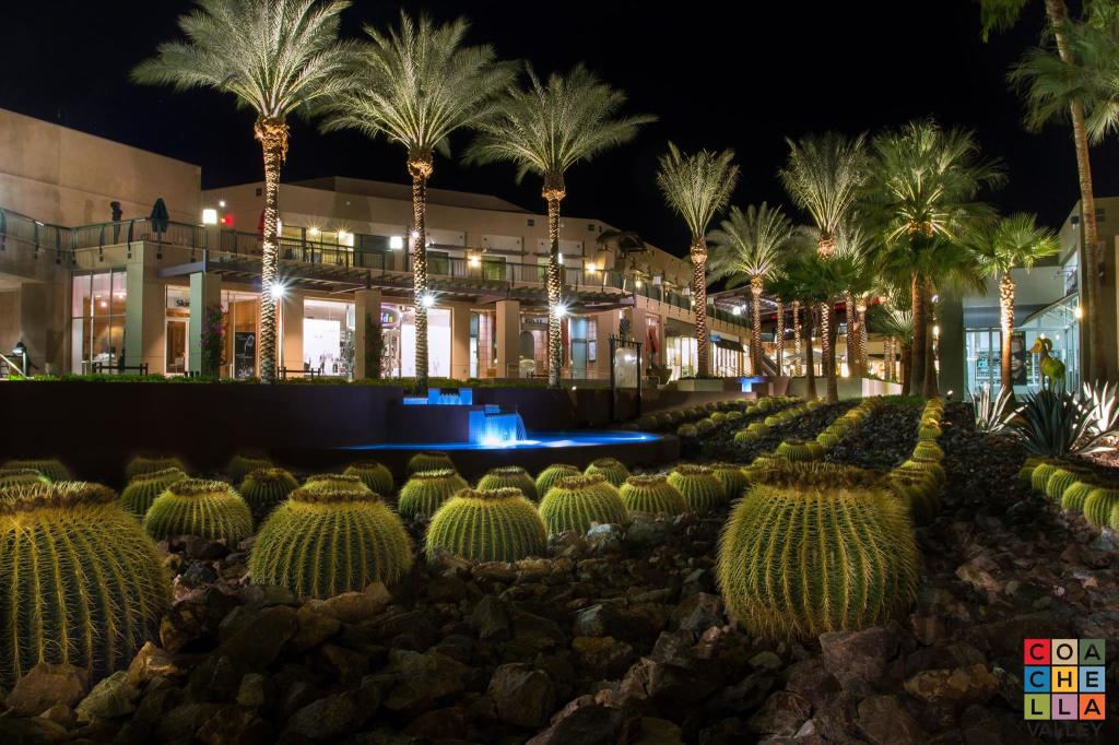 Night time in the Gardens on El Paseo by Coachella Valley