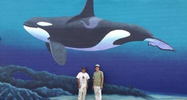 Desert Hot Springs Orca Wall Dedication and Beach Party