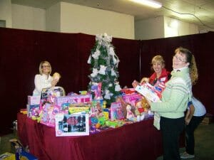 A Few of The Coachella Valley Christmas Store Volunteers