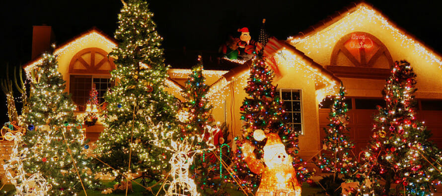 Candy Cane Lane in Cathedral City Christmas Lights