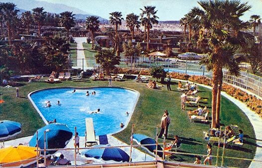 The Desert Air Resort was the main facility on the field & quite a facility it was for the time with an large pool (possibly Olympic size), three diving boards up to 30', a large ranch-style hotel with restaurant & bar
