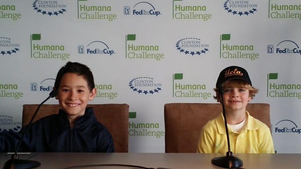 Humana Challenge Interview Room with the 1st Tee Program, January 20th, 2015. Photo by Craige Campbell / CoachellaValley.com