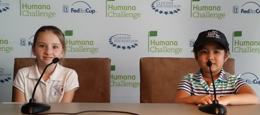 First Tee Coachella Valley Kids go behind the scene, Humana Challenge
