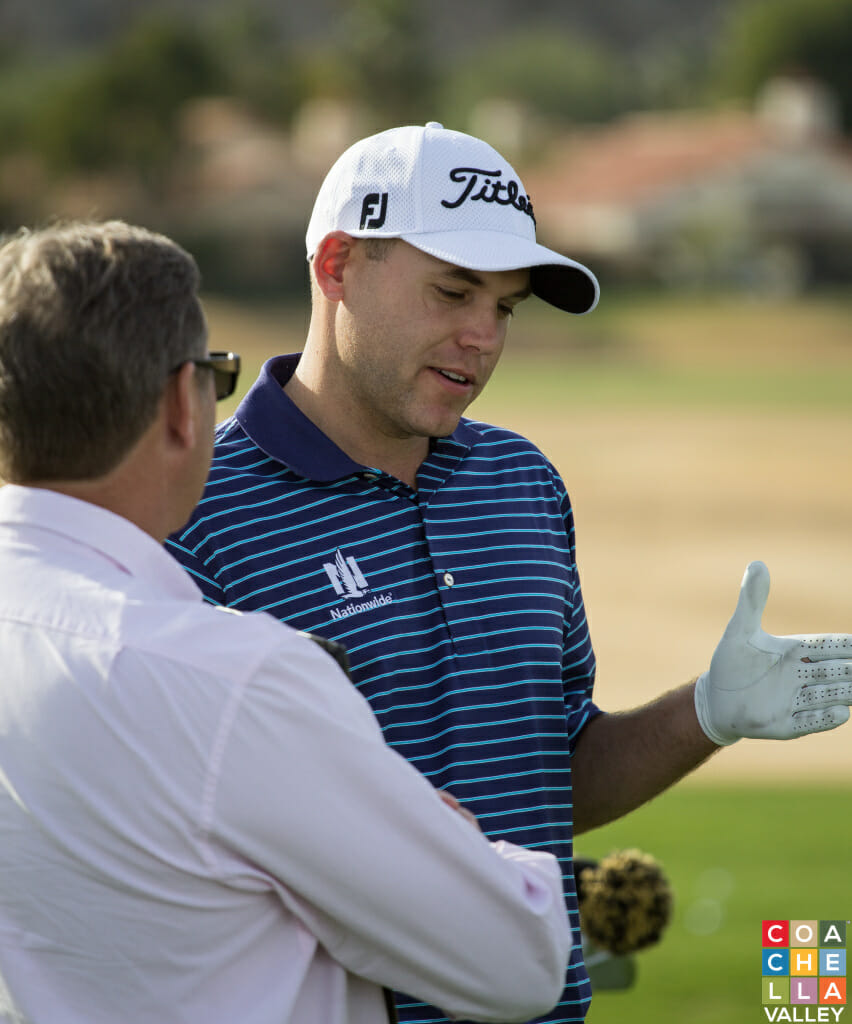 Bill Haas practicing Tuesday at PGA West prior to the 2015 Humana Challenge starting Thursday, January 22, 2015