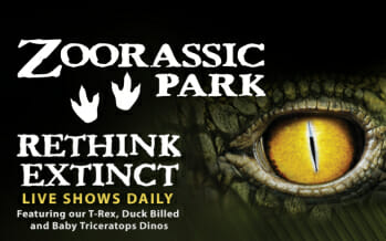 GETREADY TO RETHINK EXTINCT WHENTHELIVING DESERT TURNS INTO ZOORASSIC PARK