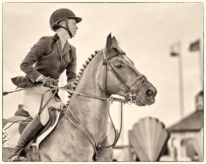 Equestrian in Thermal by Carol Parker