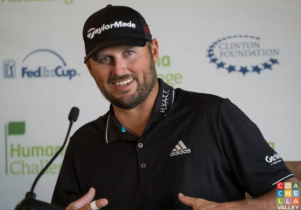 Blake Adams After 10 birdie, 1st Round at Humana Challenge on the PGA WEST's Palmer Private Course.