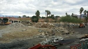 Demolition at the Las Palmas Shopping Center