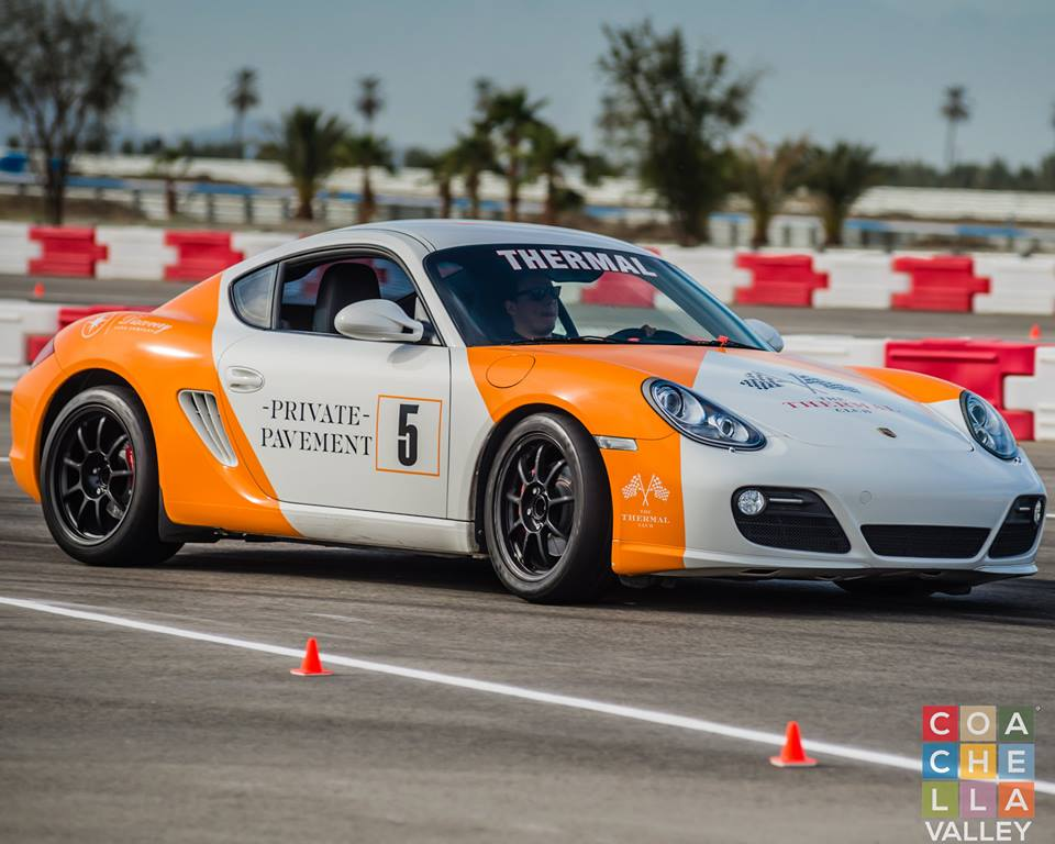 Petersen Invitational at the Thermal Club. Porsche driven by Participants on the Autocross Course.