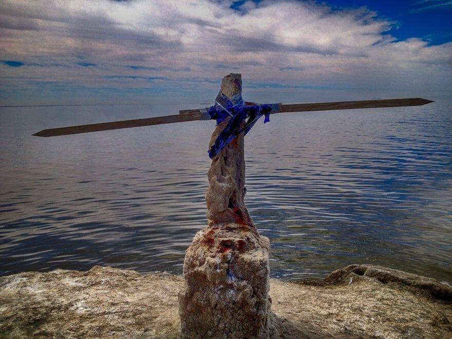"Niland Marina ""the Cross"" Courtesy SaltonSeaWalk.com"