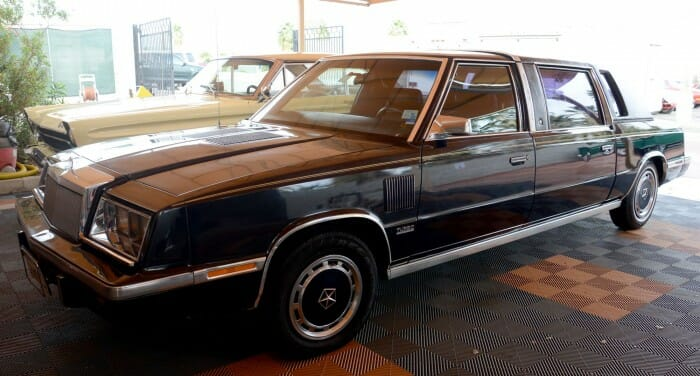 Frank Sinatra gave a 1986 Chrysler K-limo to his housekeeper, who's now putting it up for auction. Photo courtesy McCormick's Palm Springs Collector Car Auctions.