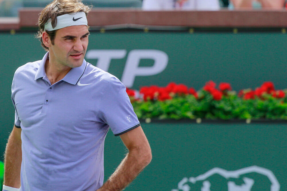 Roger Federer- 2014 BNP Paribas Open, Indian Wells, California Photo by Jim Civello/CoachellaValley.com