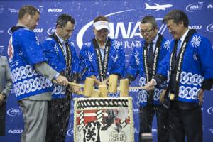 Kagami-biraki ceremony opens ANA Inspiration .JPG