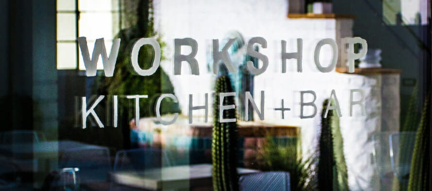 Coachella Valley Chef, Michael Beckman, of Palm Springs' Workshop Kitchen + Bar, cooking at Coachella Festival