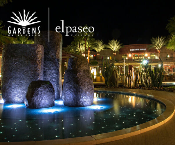The Gardens on El Paseo and El Paseo Village feature trendy upscale, luxury tenants, keeping with the retail and restaurant mix at The Gardens