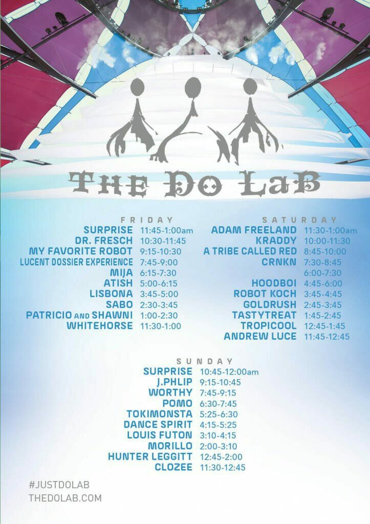 Weekend 2 Do LaB Stage Set Times
