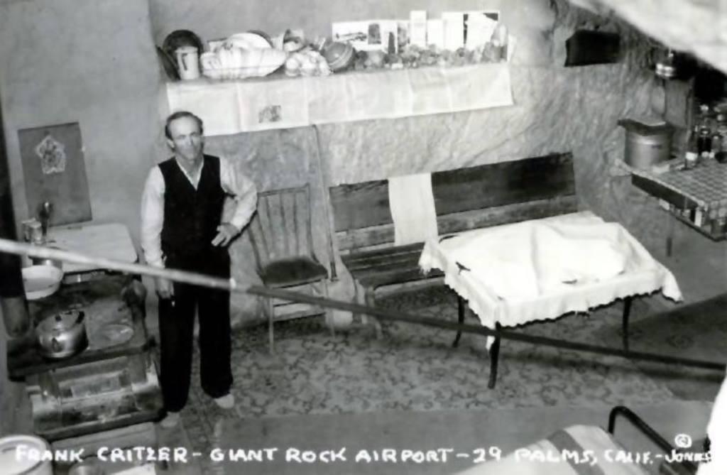Single large room beneath the Giant Rock