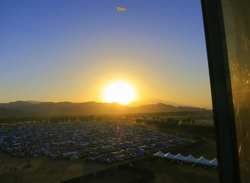 View from Coachella Ferris Wheel by Kat Ballard