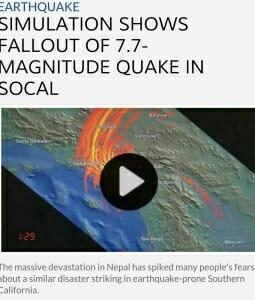 Simulation of 7.7 Earthquake.