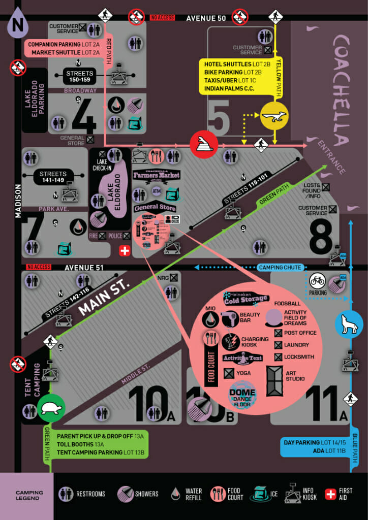 Coachella Camping Map