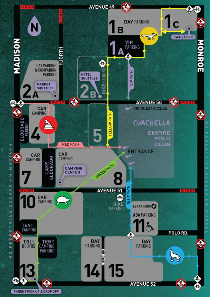 Coachella Parking & Direction Maps! – Coachella Valley
