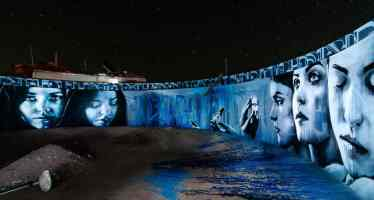 Coachella Valley's Slab City is home to Christina Angelina Art Mural
