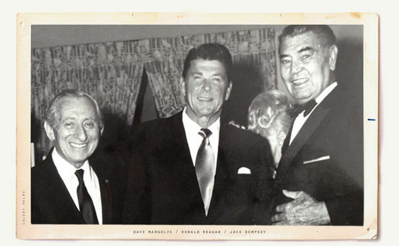 Dave Margolis, Ronald Reagan and Jack Dempsey