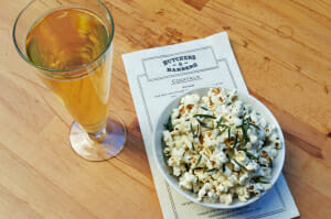 Popcorn w/ Roasted Garlic, Thyme and Rosemary - nom nom!