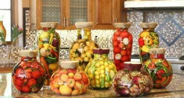 Sarabella Tuscan Jars – Enticing Fruit of the Season
