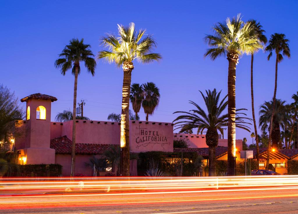 Hotel California, Palm Springs Ca by Dean Mayo
