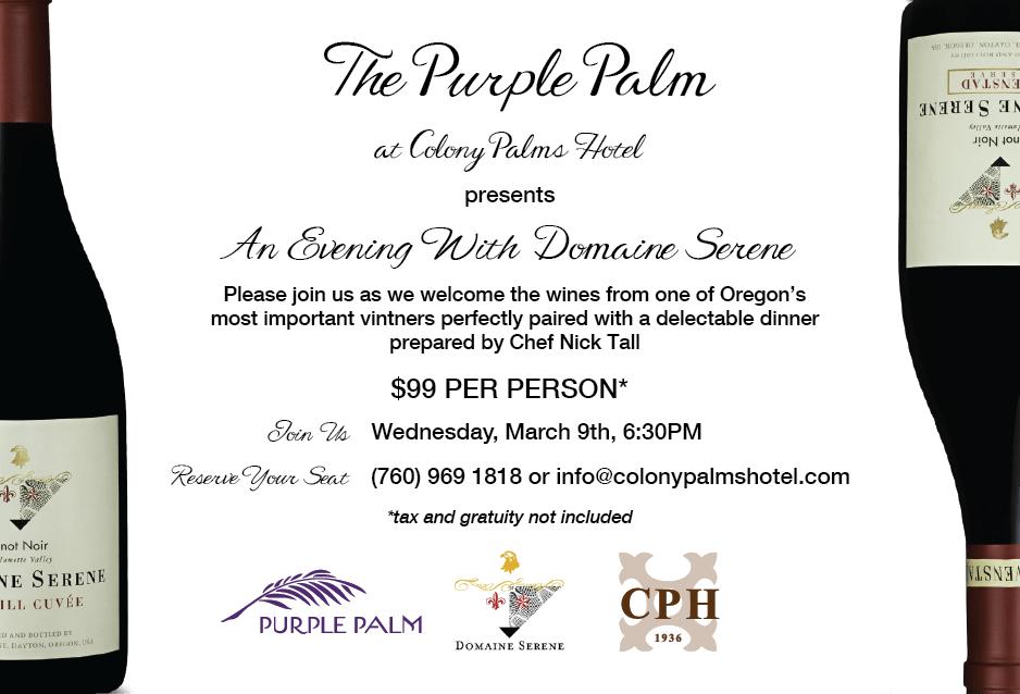 Colony Palms Wine Dinner