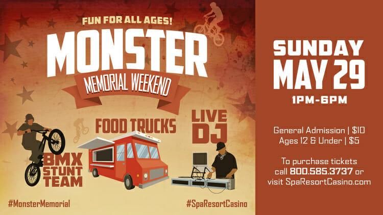 Monster Memorial Weekend Event 2016