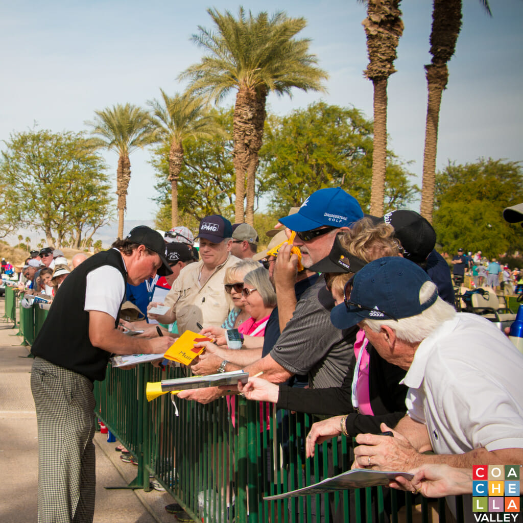 Phil Mickelson - A Fan Favorite as he always gives time to sign autographs.