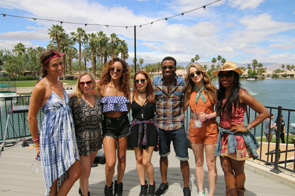 Chaley Rose and friends at the Boots On Stage Shindig In the Desert