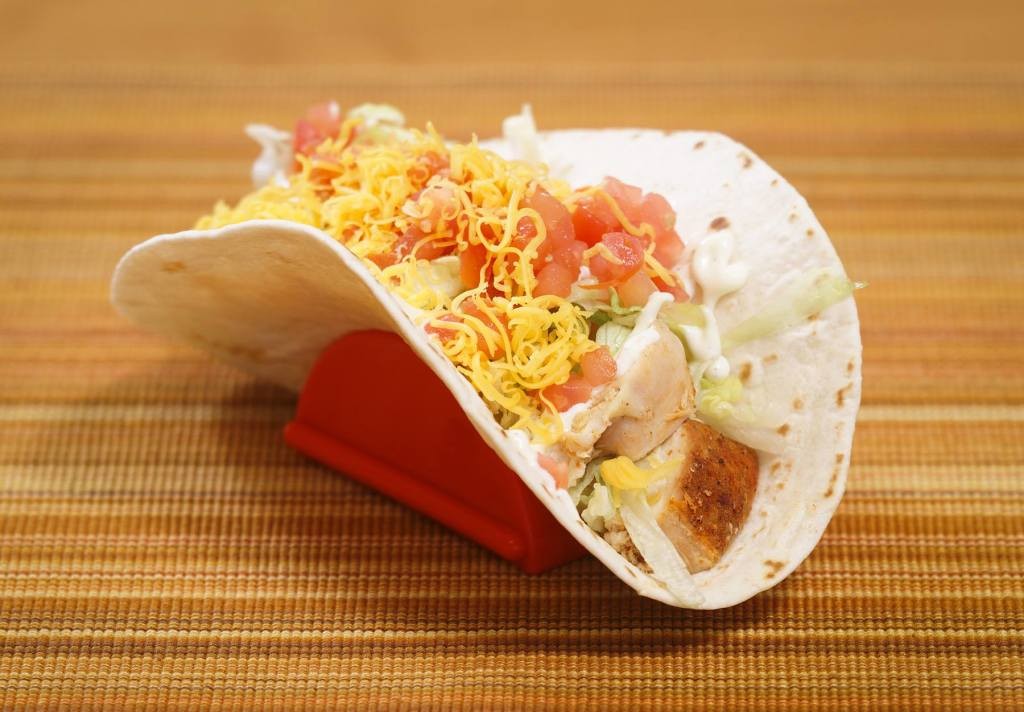 Fresh smoked chicken, shredded cheese, lettuce & tomatoes, all in a flour tortilla. The perfect chicken soft taco.